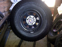 trade 4 tires on rims for small limbing chain saw or brush saw