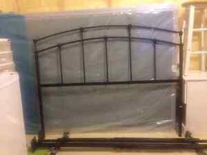 Double Bed head frame, mattress and box spring