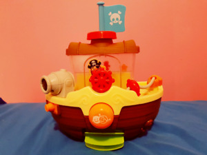 Wall Mountable Pirate Ship Bath Toy