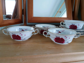 4 retro china bowls