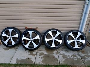 """18"""" OEM Volkswagen Thunder wheels."""