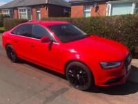 2014 AUDI A4 2.0 TDI 177 S TRONIC AUTO QUATTRO RED NAV HEATED LEATHER P SENSORS
