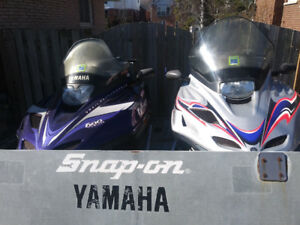 2 yamaha vmax 2002 and 2001 and snowmobile  tilt load trailer