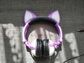 Stereo Purple Kitten Headphones