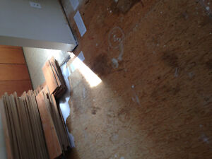 "Laminate flooring Used Condition 7.5"" wide boards"