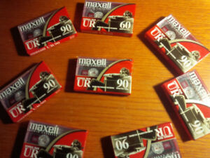 Cassette tapes new Maxell UR90 8 new sealed tapes