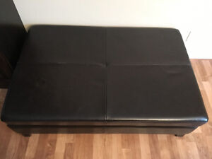 """Faux leather ottoman 4ftx31"""""""
