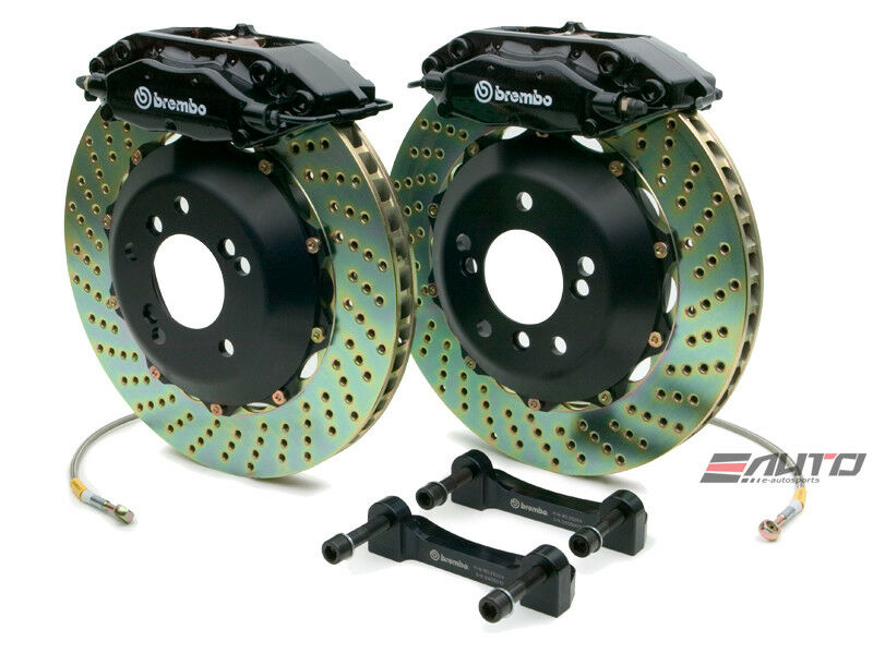 Brembo Rear Gt Big Brake C Caliper Black 328x28 Drill Disc Benz Sl500 Sl550 R230