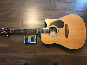 Montana acoustic / electric guitar with Boss effects peddle