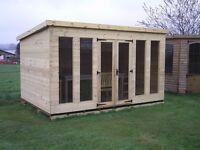 12ftx8ft contemporary pent summerhouse