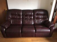 3 piece leather suite G Plan