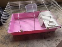 Large pink indoor rabbit /pet cage