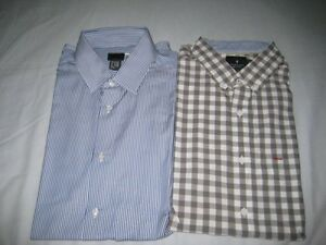 H&M BUTTON UP DRESS SHIRTS - BRAND NEW - SIZE L