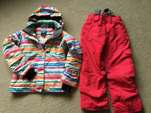 Girls firefly winter jacket and snowpants in size SM/8