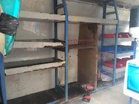 Metal van shelving racking for jumbo transit, sprinter, crafter, master etc