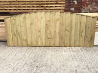 🔨🌟Excellent Quality Feather Edged Pressure Treated Bow Top Panels