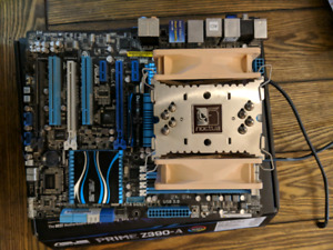 Asus P8P67 Deluxe with i7 2600k, ram, and cooler