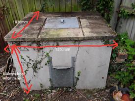 FREE- concrete coal bunker