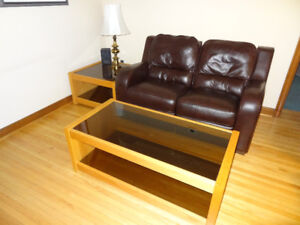 Two Matching Coffee Tables (Coffee Table and End Table)