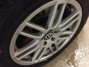 "17"" Audi Replica Wheels with Brand New Winter Tires"