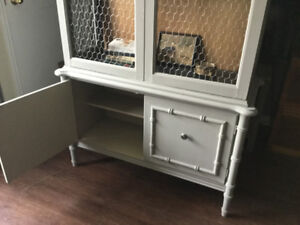 FREE DELIVERY -  STUNNING Redone Vintage Cabinet/Hutch