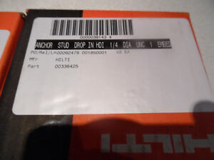 """Hilti 336425 HDI 1/4"""" Drop in Anchor 3/8"""" Drill Size Box of 100 Kitchener / Waterloo Kitchener Area image 2"""