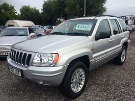 2003 JEEP GRAND CHEROKEE 2.7 CRD Limited DIESEL AUTO FULL LEATHER SERVICE HIST
