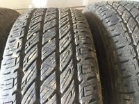 265/60r18 nitto durra grapplers (like new)