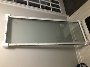 Full glass insert for door 22 X 64 inches
