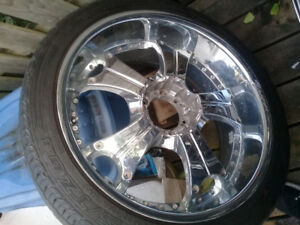 22 inch rims with tires