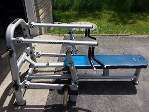 Oly plate loaded commercial bench press