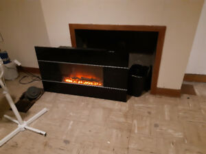 """Wall mounted electric fireplace heater approx 45""""/20"""""""