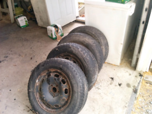 Tires and rims Jetta 5x100 15 inch