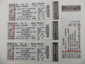 2 HALESTORM Tickets for $50.00 or $25.00 each