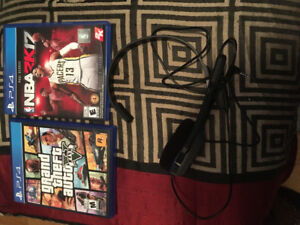 2 PS4 games and a PS4 headset