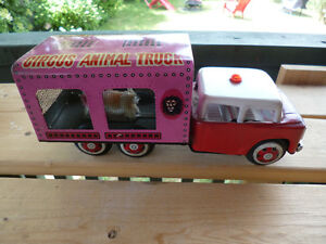 70s era Circus Animal Truck -  Tin Friction Toy - China MF782