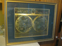 Framed World Map... Blaeu Reproduction
