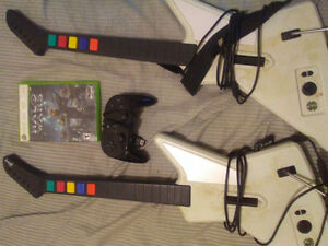 Guitar Hero Controllers + Halo Wars