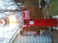 1926 clear vision gas pump restored..red indian etc