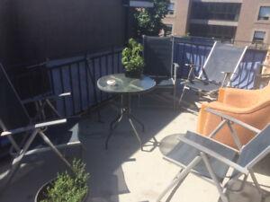5 et demi meublé, 2 chambres fermées Plateau- Parc Baldwin