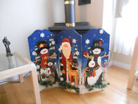 FOLDING CHRISTMAS SCREEN