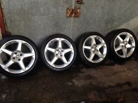 "Vauxhall 17"" alloys with tyres 4x100"