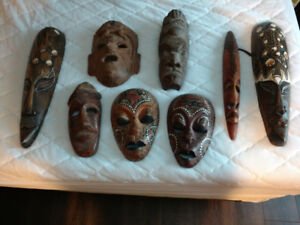 Wooden Masks from all over the world