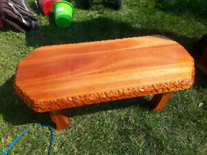 Beautiful hand carved table from Muskoka