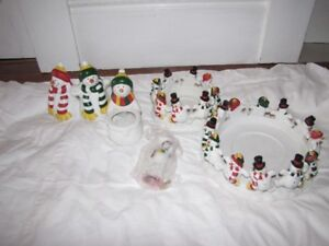 Partylite Snowmen Candle Holders