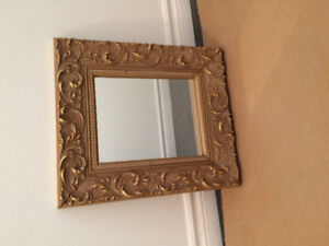 Small Gold Frame Mirror