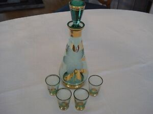 Decanter and Four Glasses