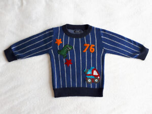 NWOT Next Blue Crew/Jumper/Sweater with embroidery (3-6 mths)