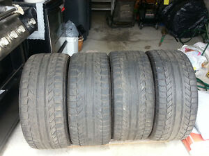 Set of four 275/40ZR20 BF Goodrich GForce tires - 80% tread left