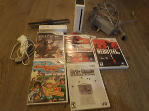 Wii System and 5 Games
